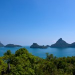 View on the Ang Thong National Marine Park from the viewing platform
