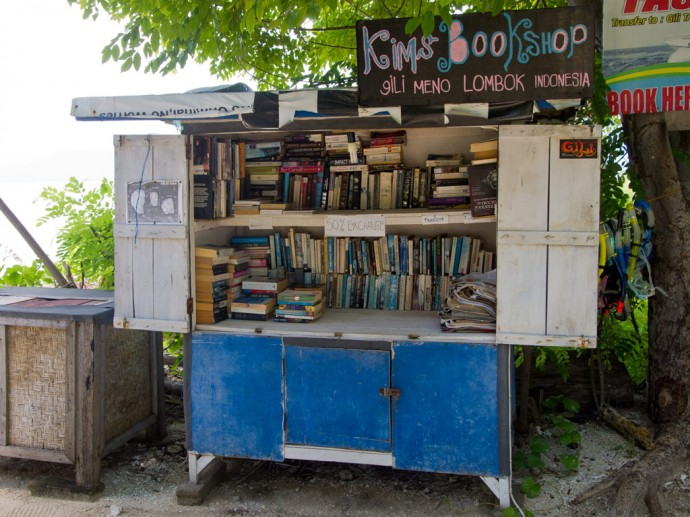 Kims Bookshop on Gili Meno (Indonesia)