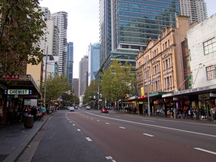 George Street in Sydneys Central Business District