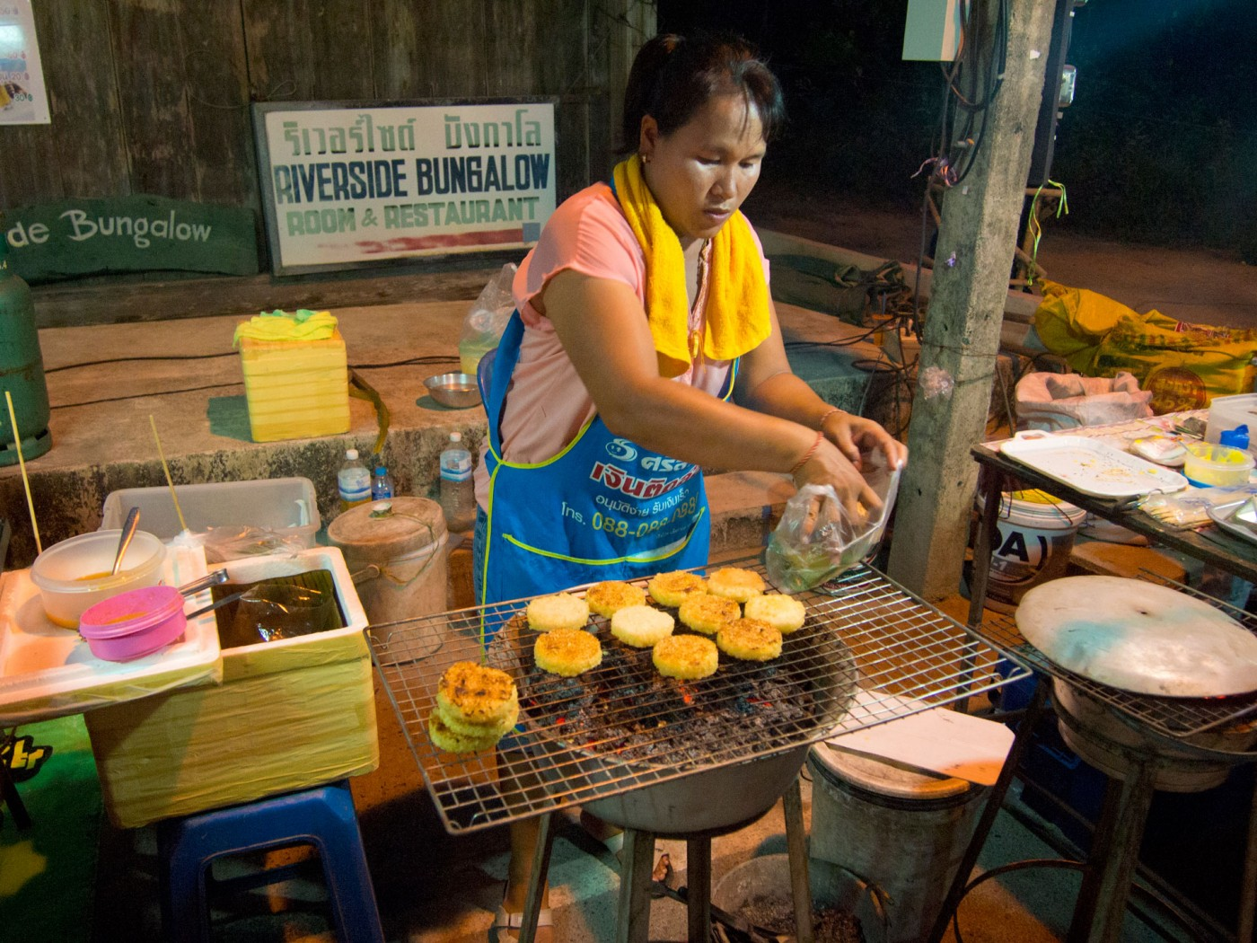 Barbeque Sticky Rice auf der Walking Street von Lamai, Koh Samui