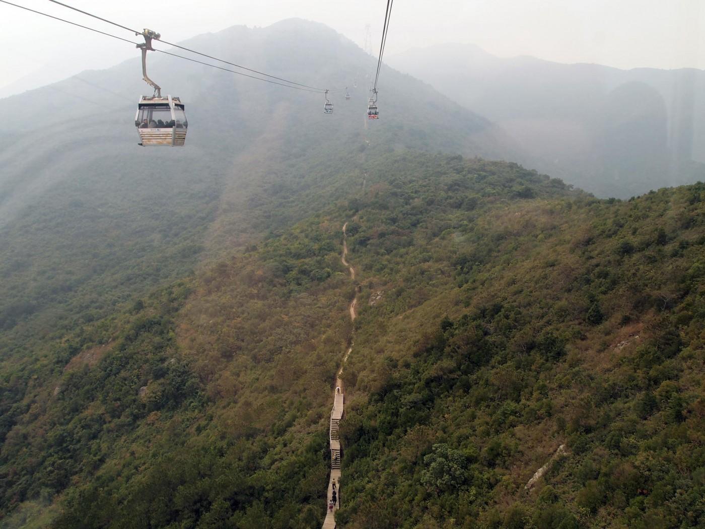 Aussicht von der Gondelbahn Richtung Big Buddha