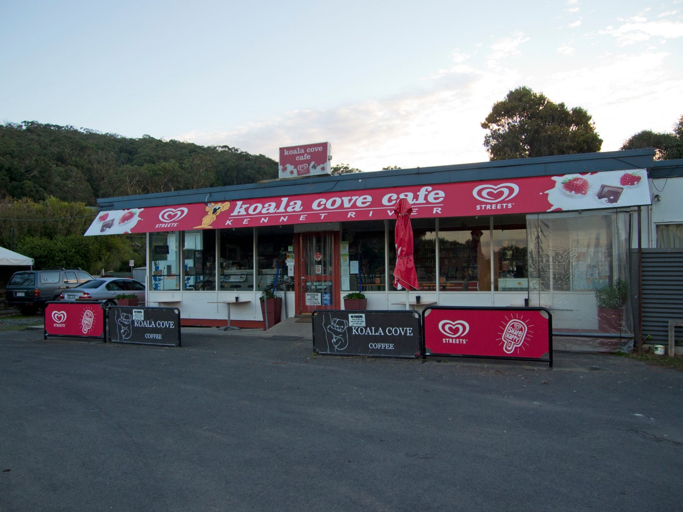 Koala Cove Cafe am Kennett River, Great Ocean Road, Australien