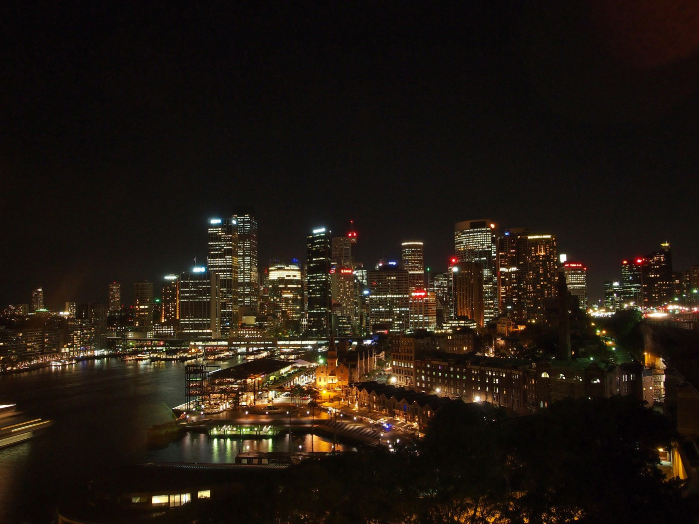 Sydney's CBD from the Harbour Bridge