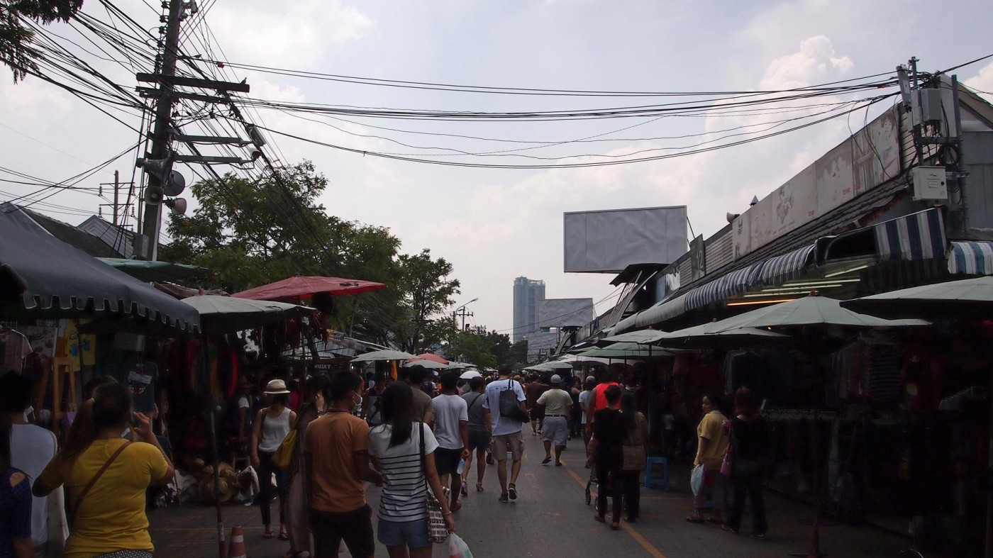Main street of the Chatuchak Market, Bangkok, Thailand