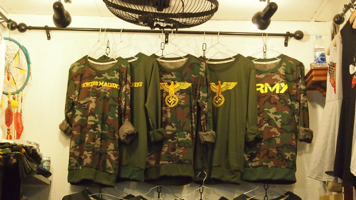 Army clothes at the Chatuchak Market in Bangkok