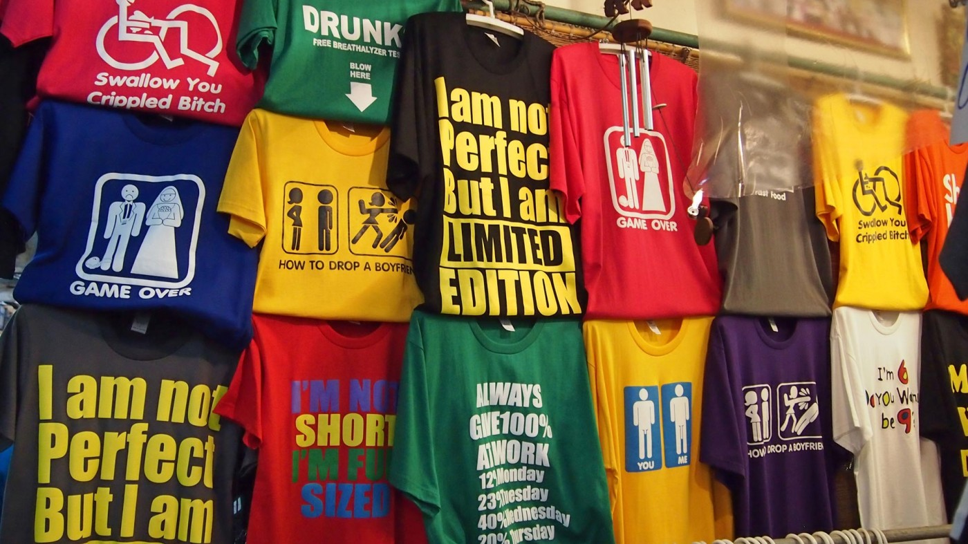 T-shirts at the Chatuchak Market in Bangkok, Thailand