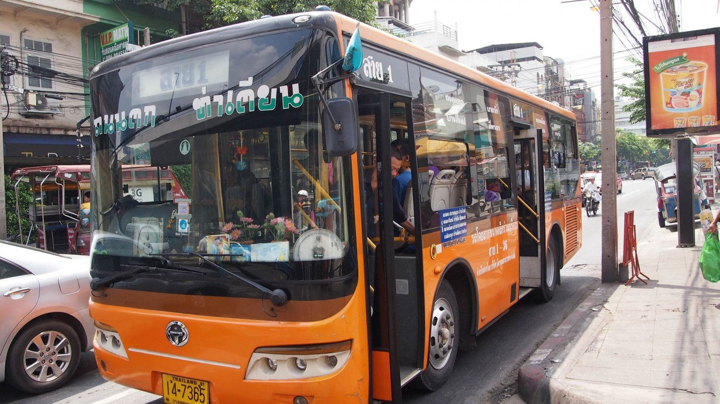 One of the countless buses in Bangkok