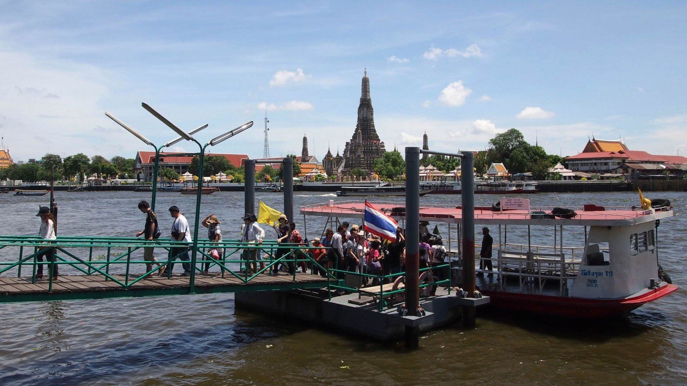 Ferry which connects both sides of the Chao Phraya River in Bangkok