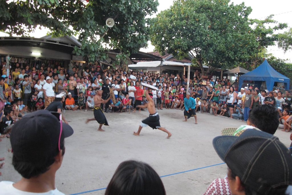 Stick Fight on the market place of Gili Trawangan