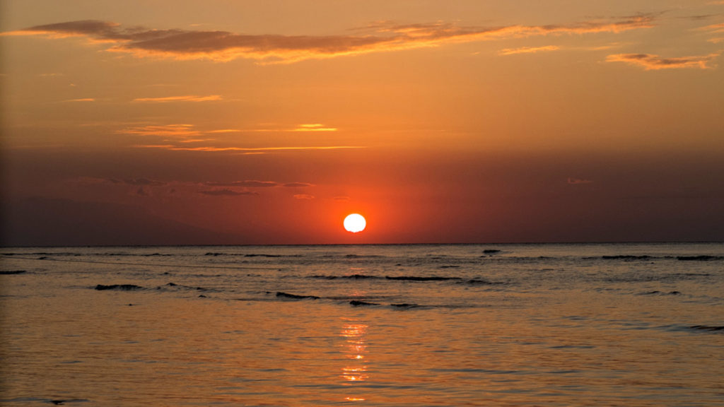 Sunset at Gili Trawangan, Indonesia