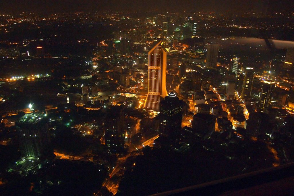 Nocturnal Kuala Lumpur from above