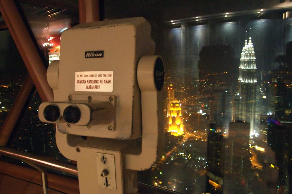 One of the spyglasses on the Observation Deck