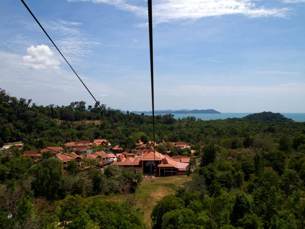 View at the Oriental Village from the Cable Car