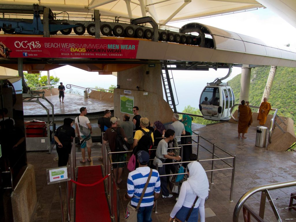 First Cable Car station in the Oriental Village