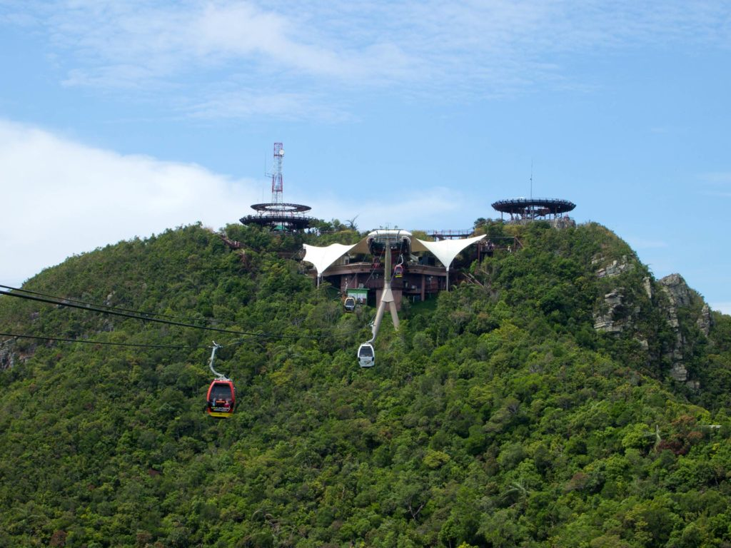 Station at the top of the Cable Car on Langkawi in the Oriental Village