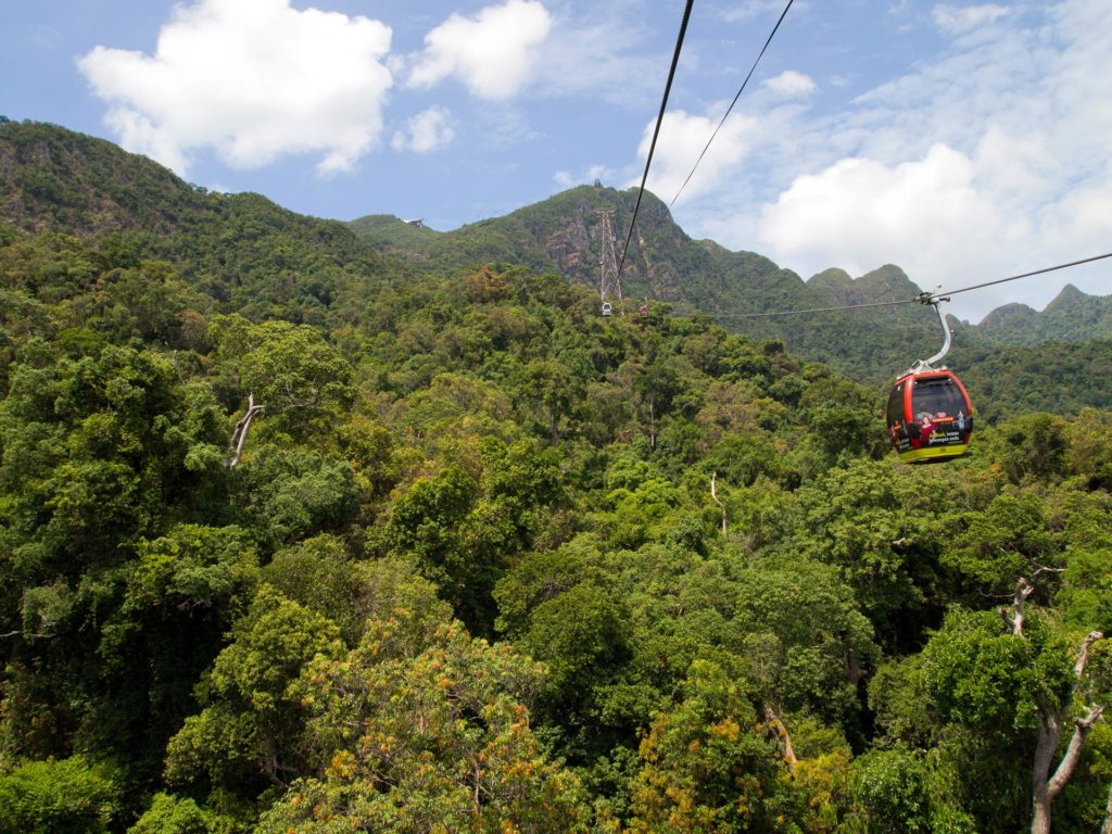 Cable Car route on Langkawi