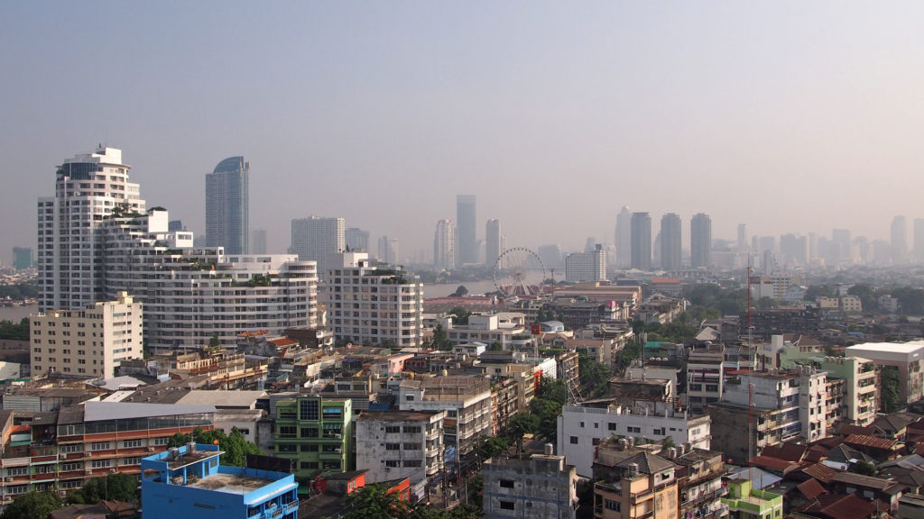 The skyline of Bangkok in day time