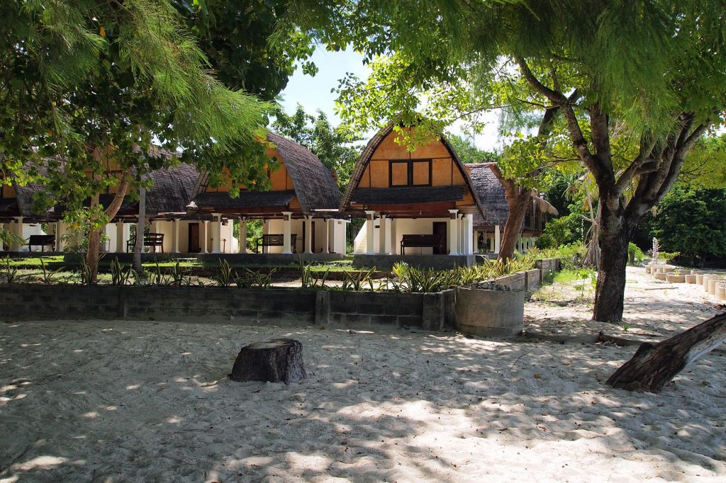Bungalows at the beach on Gili Nanggu, Lombok
