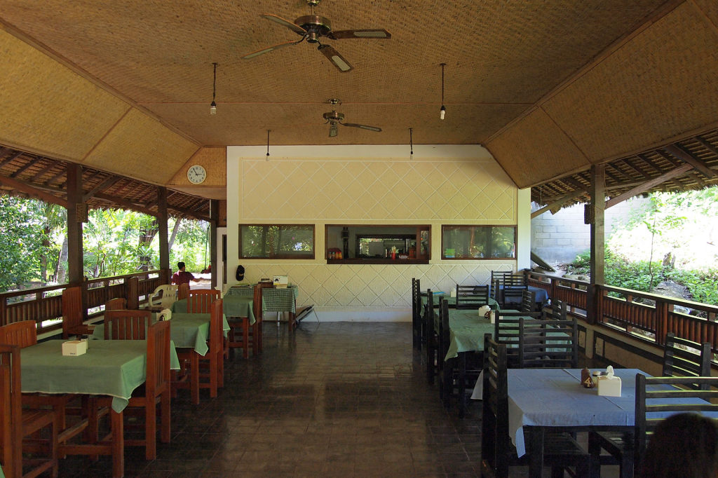 Restaurant on Gili Nanggu, Lombok