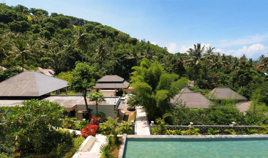 View from the balcony of a Dahlia double room at Kebun Villas & Resort