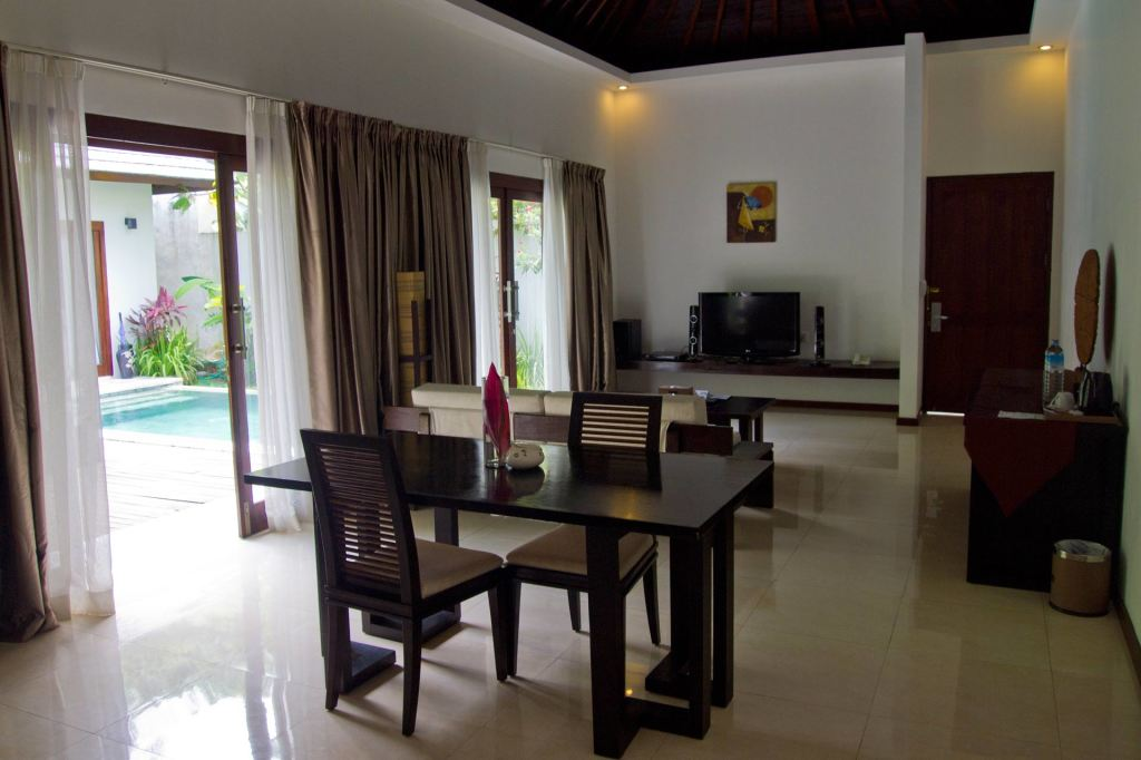 Living room in the Angsana villa at Kebun Villas & Resort