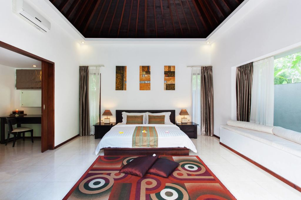 Bedroom in the Angsana villa at Kebun Villas & Resort