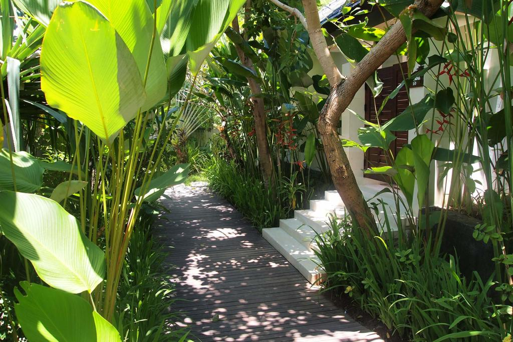 Way to the Angsana villa at Kebun Villas & Resort