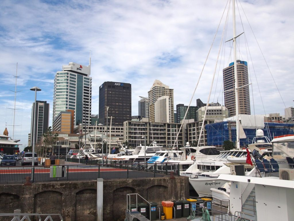 View from the harbour at the CBD of Auckland, New Zealand