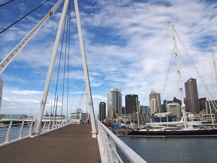 View from the harbour at Auckland's CBD