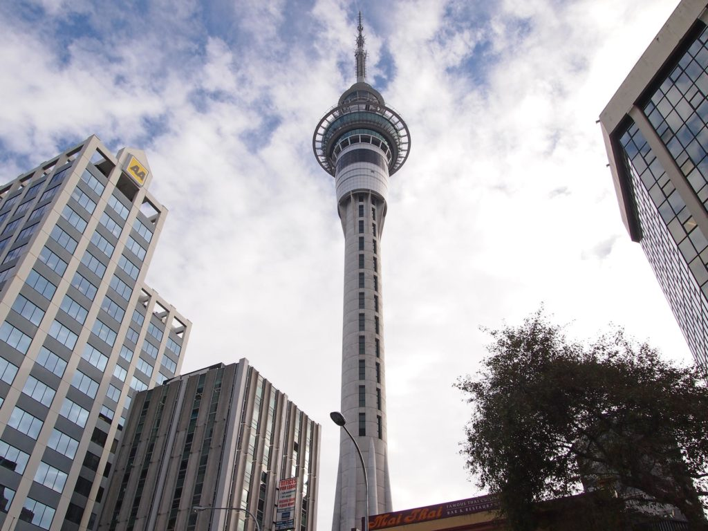 The famous Sky Tower in the CBD of Auckland