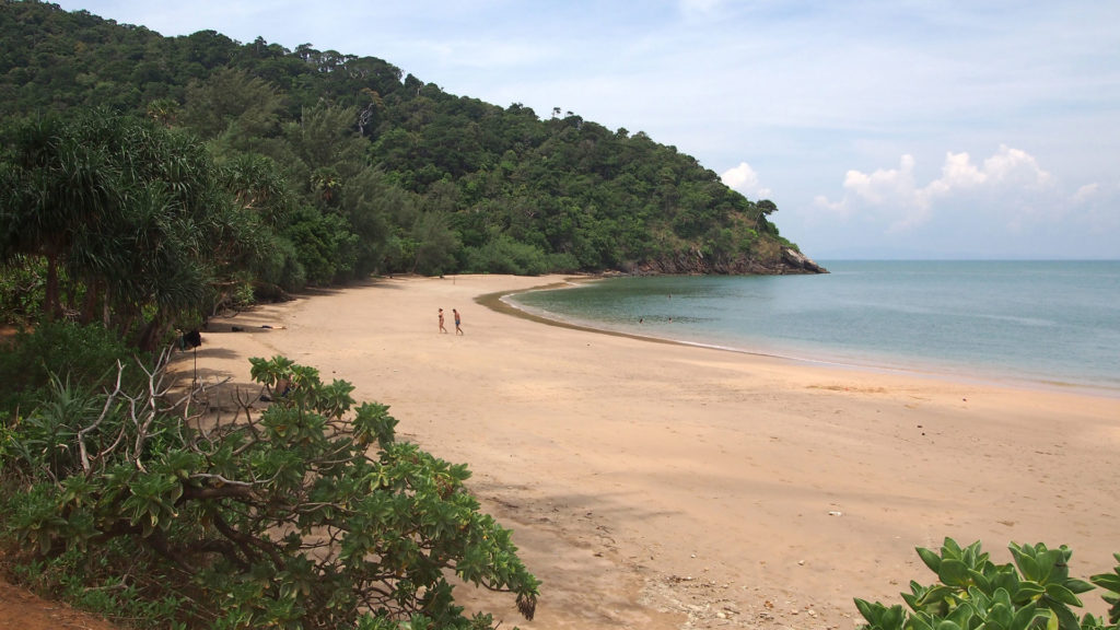 The beach of the Mu Koh Lanta National Park