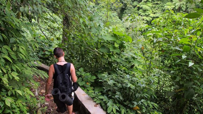 Marcel on the way to the Tiu Teja waterfall, Lombok