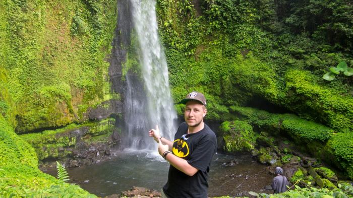 Tobi at the Tiu Teja waterfall, Lombok