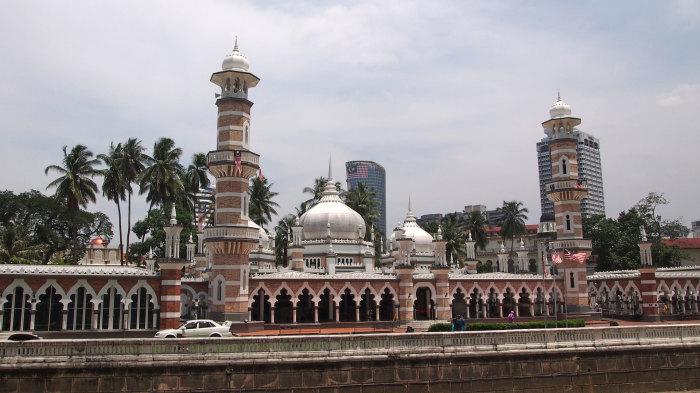 Masjid Jamek mosque in Kuala Lumpur