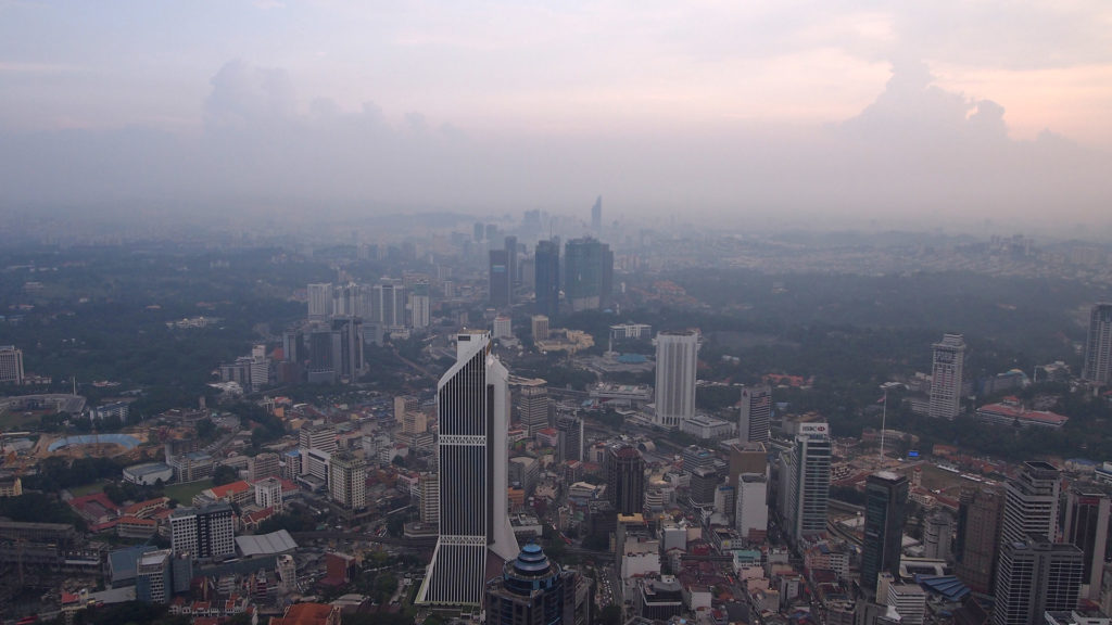 The view from the KL Tower towards KL Sentral