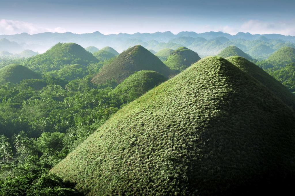 The Chocolate Hills on Bohol, Philippines
