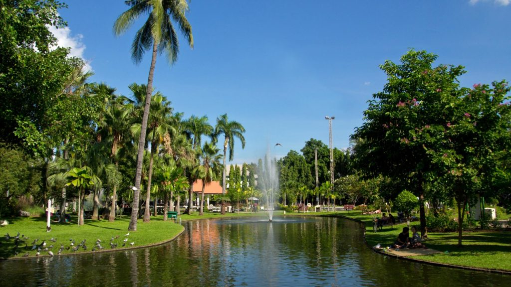 The park at the southwestern end of Chiang Mai's old town