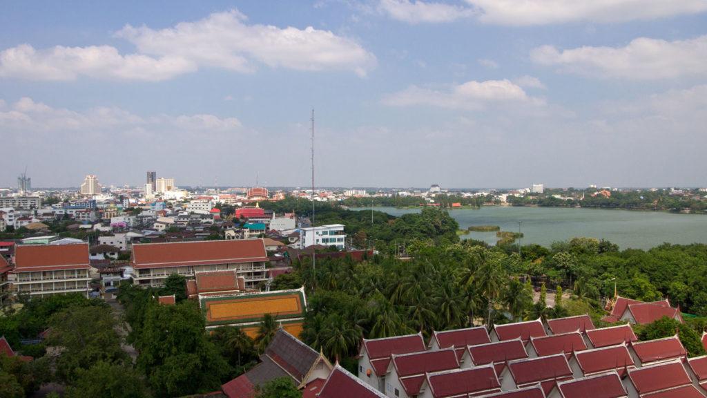 Die Aussicht über Khon Kaen von Wat Nong Waeng
