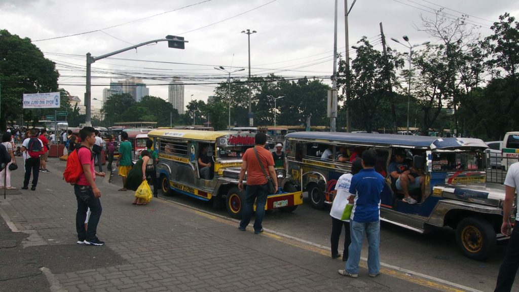 Jeepneys in the city of Manila, Philippines