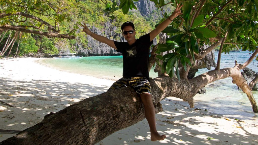 Marcel at Pasandigan Beach on Cadlao Island