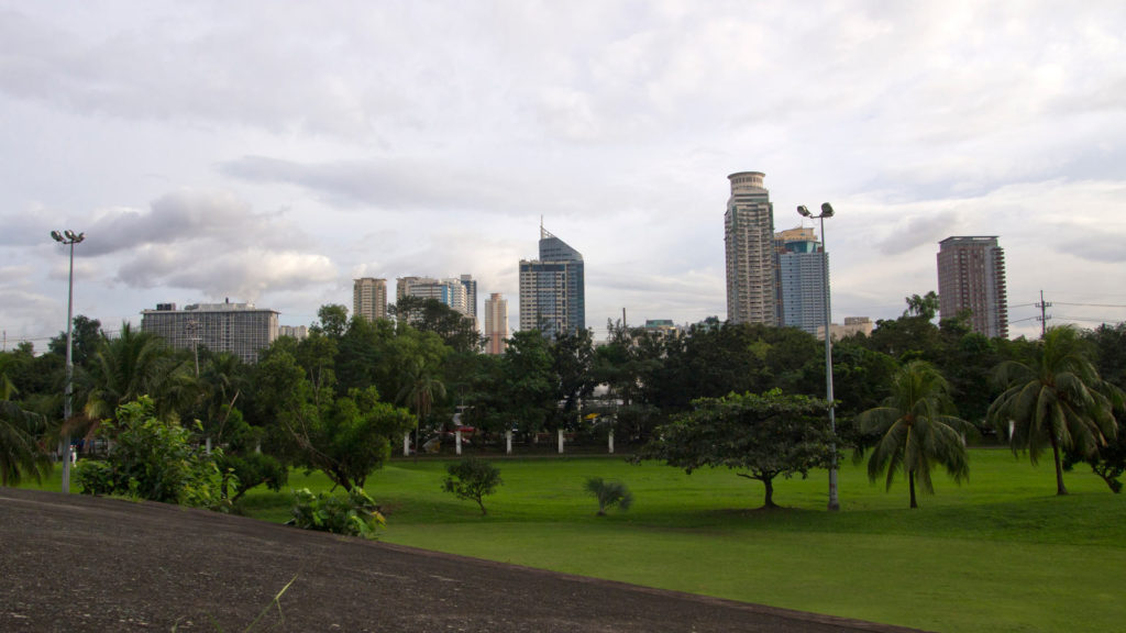 View at Manila's skyline from Intramuros