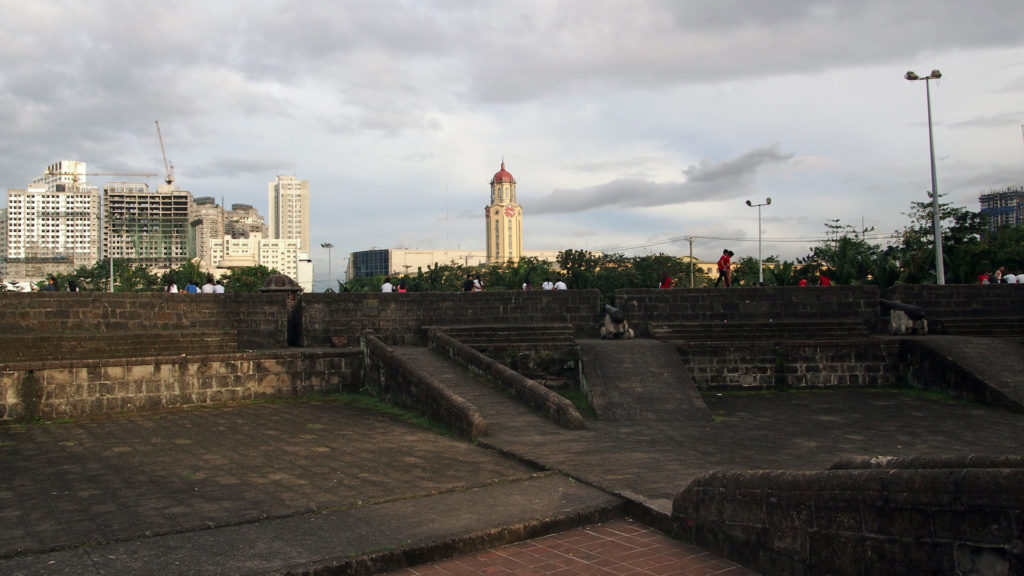 View at the Manila City Hall from Baluarte de San Francisco de Dilao, Intramuros