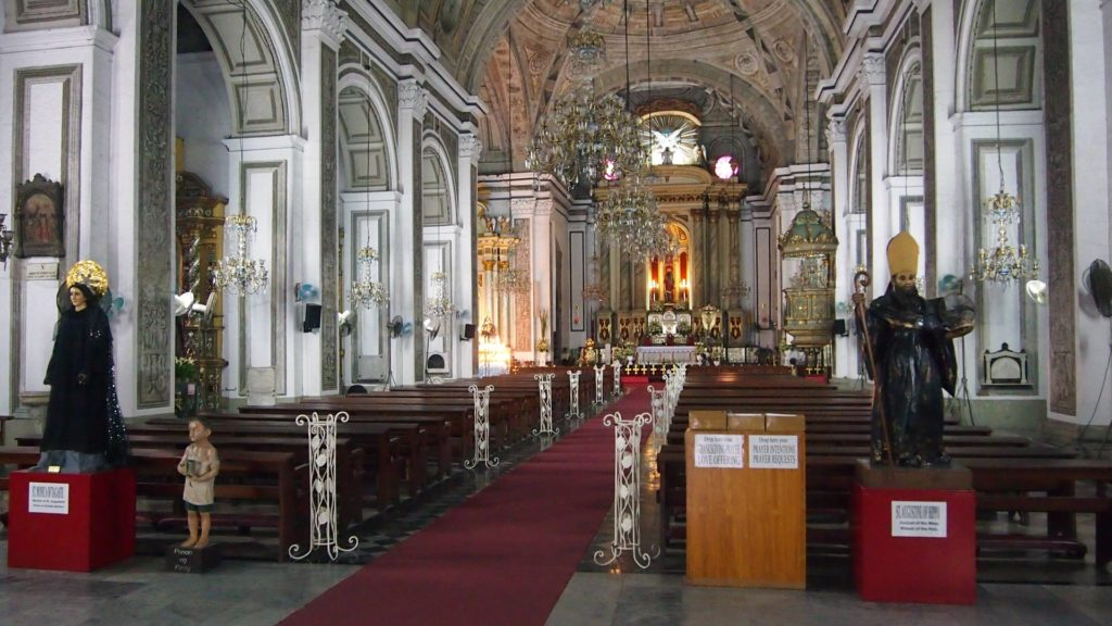 The San Agustín Church from inside