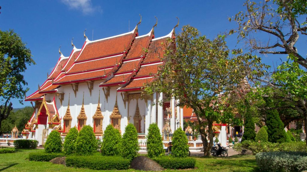 The Ubosot at Wat Chalong, the biggest temple of Phuket