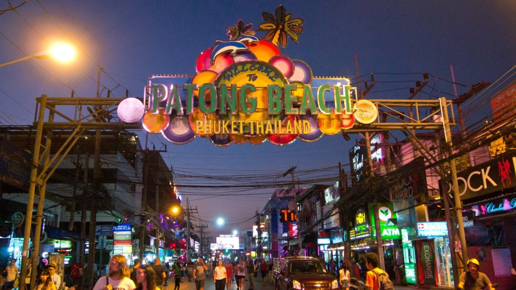 Die Bangla Road in Patong, Phuket