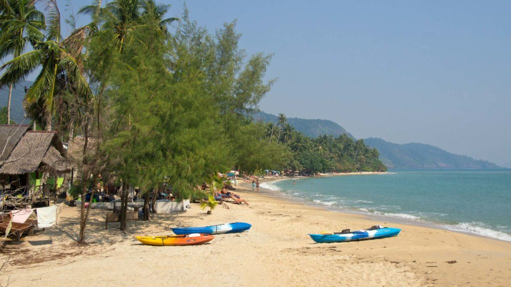 The Klong Koi Beach in the south of Koh Chang