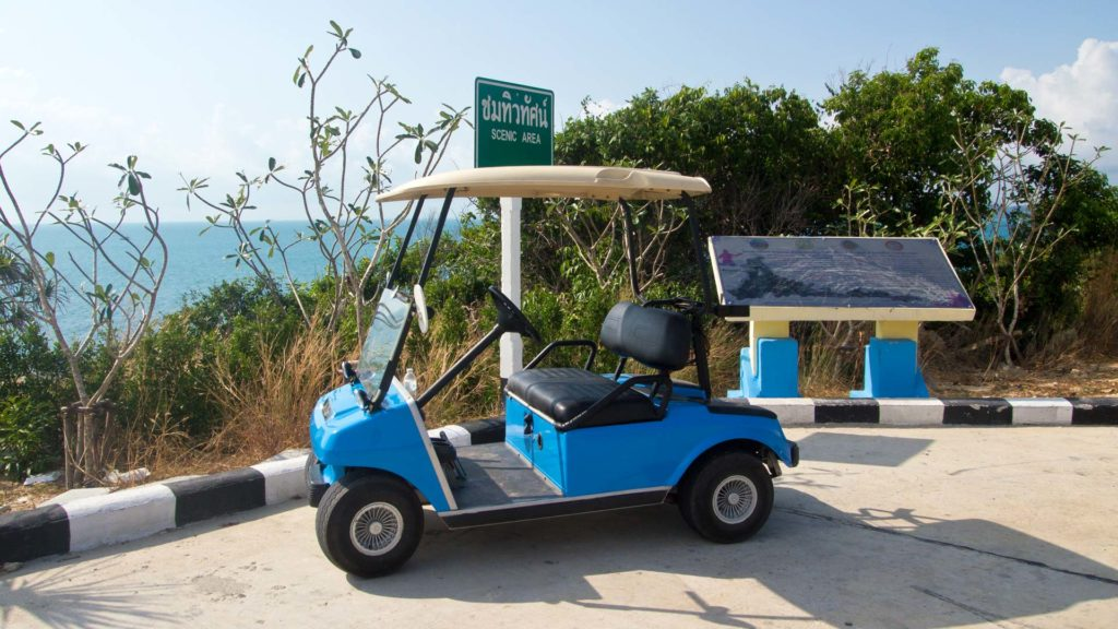 Golf cart for rent on Koh Samet