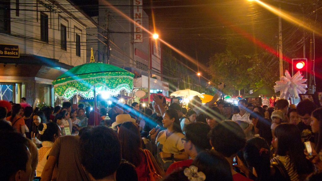 The Sunday Walking Street in Chiang Mai's old town