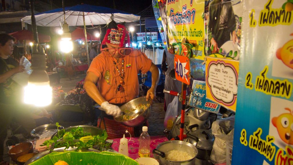 Vendor at the walking street on Saturday just outside the old town of Chiang Mai