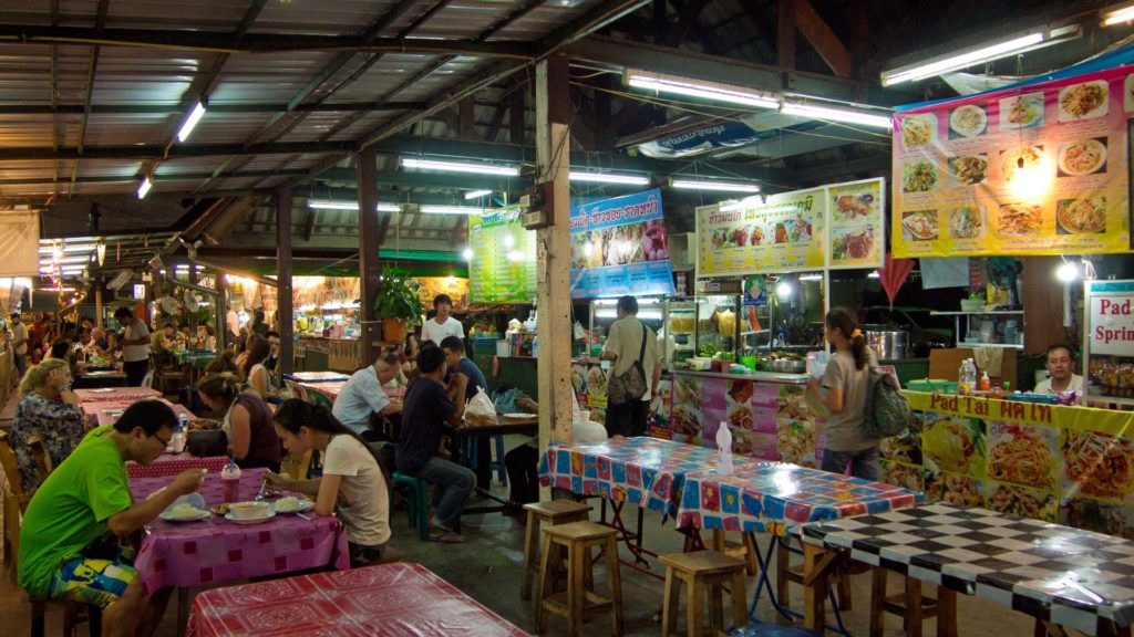 Food stalls at the Anusarn Markt, Chiang Mai